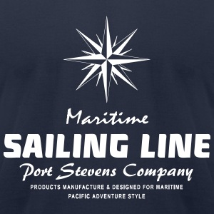Maritime Sailing Line - Compass T-Shirts - Men's T-Shirt by American Apparel