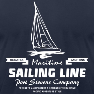 Maritime Sailing Line – Sailingboat T-Shirts - Men's T-Shirt by American Apparel