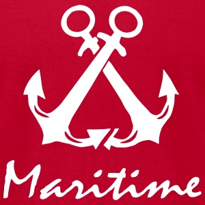 Maritime Anchor T-Shirts - Men's T-Shirt by American Apparel