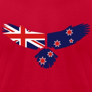 Eagle - New Zealand Flag T-Shirts - Men's T-Shirt by American Apparel