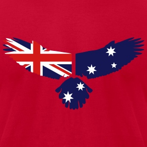 Eagle - Australia Flag T-Shirts - Men's T-Shirt by American Apparel