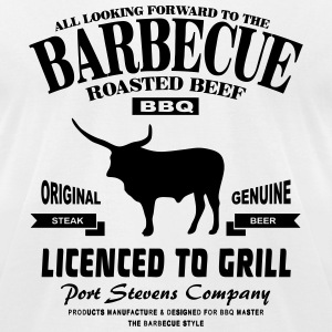 Barbecue  - BBQ T-Shirts - Men's T-Shirt by American Apparel