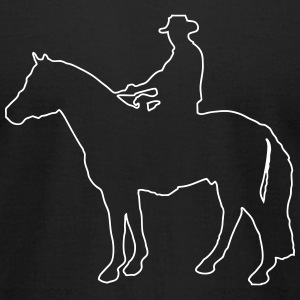 Cowboy - Rider T-Shirts - Men's T-Shirt by American Apparel