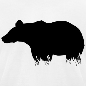 Bear - Grizzly T-Shirts - Men's T-Shirt by American Apparel