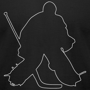 Hockey Keeper T-Shirts - Men's T-Shirt by American Apparel