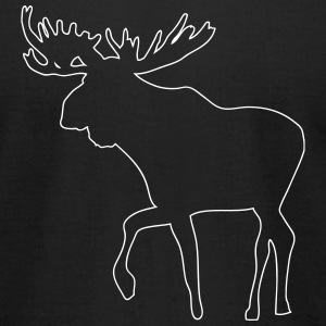 Moose T-Shirts - Men's T-Shirt by American Apparel