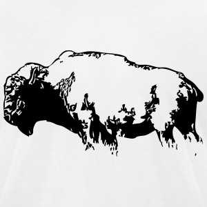 Bison -  Buffalo T-Shirts - Men's T-Shirt by American Apparel