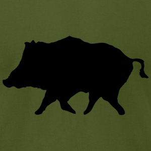 Wild Boar T-Shirts - Men's T-Shirt by American Apparel
