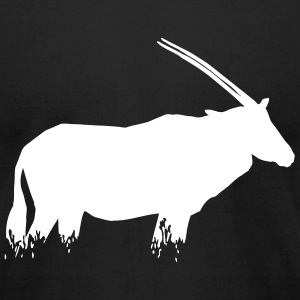Oryx Antelope T-Shirts - Men's T-Shirt by American Apparel