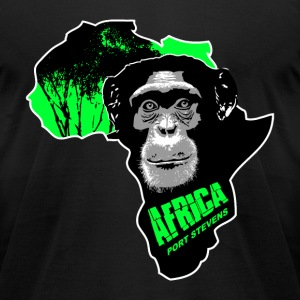 chimpanzee - Africa T-Shirts - Men's T-Shirt by American Apparel