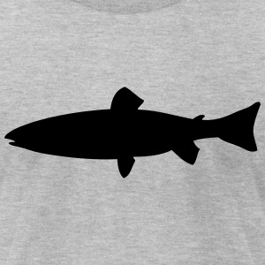 sea trout- brown trout - trout T-Shirts - Men's T-Shirt by American Apparel