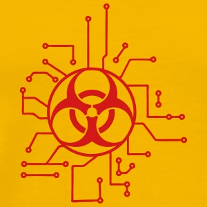 circuitry electrically symbol toxic virus bacteria T-Shirts - Men's Premium T-Shirt