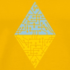 diamond-2 triangles form microchip technology cool T-Shirts