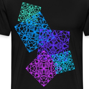 geometric squares - Men's Premium T-Shirt