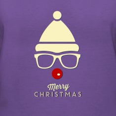Hipster Rudolph Women's V-Neck T-Shirt