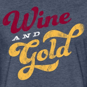 Wine And Gold Script T-Shirt - Fitted Cotton/Poly T-Shirt by Next Level