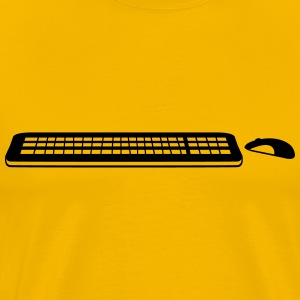 move control mouse keyboard computer pc Write tap T-Shirts - Men's Premium T-Shirt