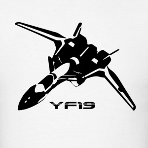 Macross YF19 Black T-Shirts - Men's T-Shirt