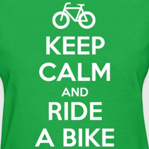 Keep Calm and Ride a Bike Women's T-Shirts - Women's T-Shirt