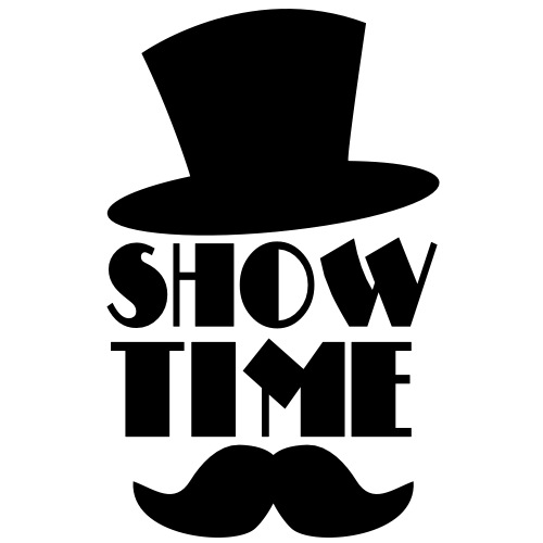 SHOW TIME MAGIC hat and moustache
