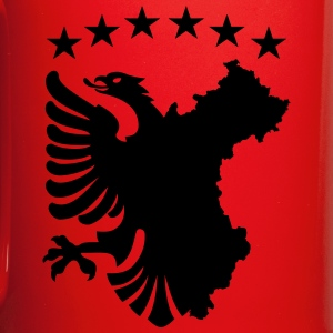 Albanian Autochthonous Flag Mugs & Drinkware - Full Color Mug