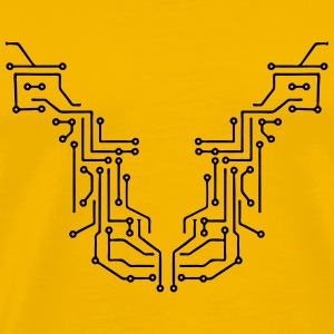 lines design circuitry technology lines microchip  T-Shirts - Men's Premium T-Shirt