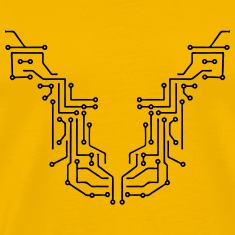 lines design circuitry technology lines microchip  T-Shirts