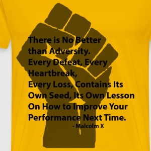 LocStar Revolution Malcolm X Adversity - Men's Premium T-Shirt