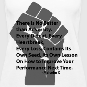 LocStar Revolution Malcolm X Adversity - Women's Premium Tank Top