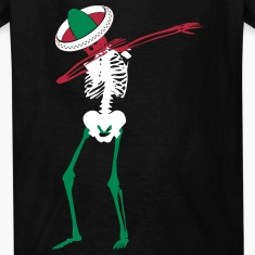 Cinco de Mayo Dab Skeleton Kids' Shirts