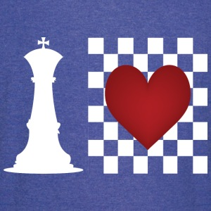 I heart Chess - Chess board with heart T-Shirts - Vintage Sport T-Shirt