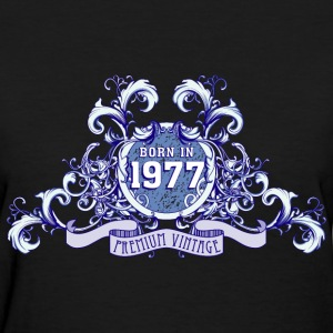 042016_born_in_the_year_1977b Women's T-Shirts - Women's T-Shirt