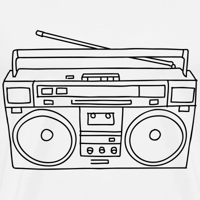 boombox music radio hip hop