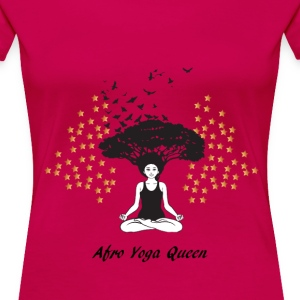 LocStar Revolution Afro Yoga Queen - Women's Premium T-Shirt