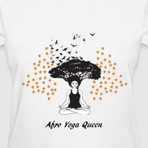 LocStar Revolution Afro Yoga Queen - Women's T-Shirt