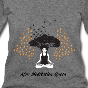 LocStar Revolution Afro Meditation Queen - Women's Wideneck Sweatshirt