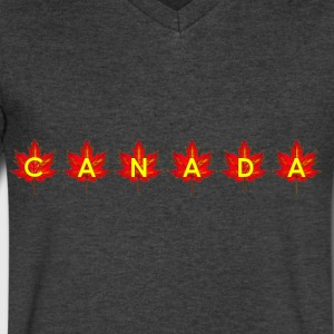 CANADA IN LEAVES - Men's V-Neck T-Shirt by Canvas