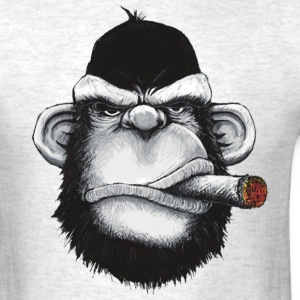 Gorilla Smoking Cigar - Men's T-Shirt