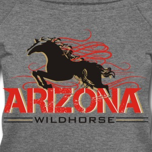 arizonawildhorse-shirt- Long Sleeve Shirts - Women's Wideneck Sweatshirt