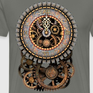 Steampunk Clock and Gears T-Shirts - Men's Premium T-Shirt