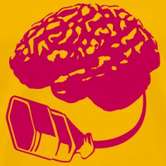 Connecting thinking brain power plug electronicall T-Shirts