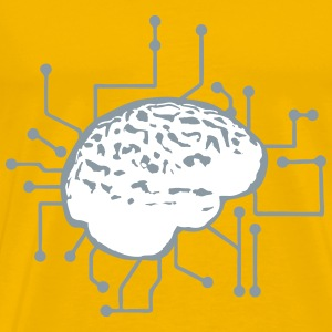 Connecting thinking brain power plug electronicall T-Shirts - Men's Premium T-Shirt