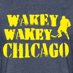 Wakey Wakey Chicago T-Shirts - Fitted Cotton/Poly T-Shirt by Next Level