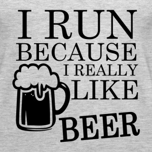 I Run because I really like BEER funny shirt - Women's Premium Tank Top