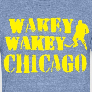 Wakey Wakey Chicago T-Shirts - Unisex Tri-Blend T-Shirt by American Apparel
