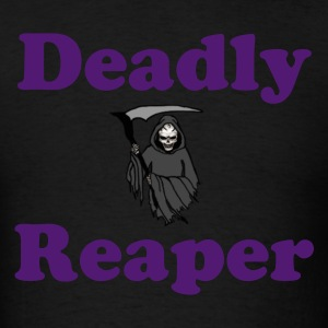Deadly Reaper Shirt with URL on Back - Men's T-Shirt
