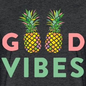 AD GOOD VIBES PINEAPPLES T-Shirts - Fitted Cotton/Poly T-Shirt by Next Level