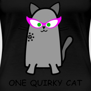 Quirky Cat T-Shirt - Women's Premium T-Shirt