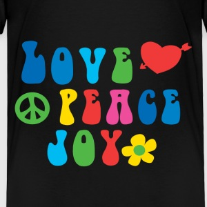 Love Peace Joy Toddler Premium T-Shirt - Toddler Premium T-Shirt