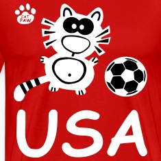 Catpaw Cat Cats Comic USA United States Sports Fun T-shirts